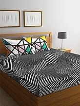 Portico Marvella Printed Queen Bedsheet Set, Black/White, 224 X 254cm, 8045231, 3-Pieces
