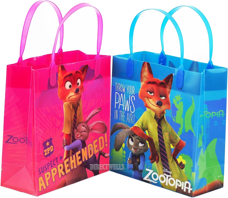 Zootopia Authentic Licensed Reusable Party Favors Plastic Medium Goodie Bag 8  ( 12 bags)