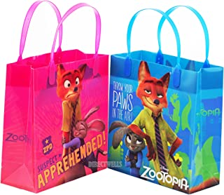 Zootopia Authentic Licensed Reusable Party Favors Plastic Medium Goodie Bag 8