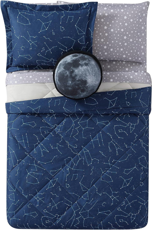 My World LHK-COMFORTERSET Night Sky Printed Twin XL 2-Piece Comforter Set, Twin Twin