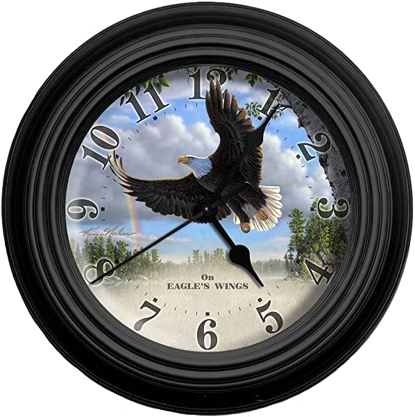 Reflective Art On Eagle S Wings Wall Clock 10 Inch