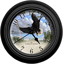Reflective Art On Eagle's Wings Wall Clock, 10-Inch