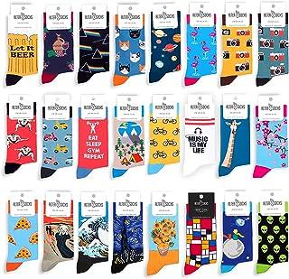 AlterSocks, pizza- calcetines para hombres y mujeres, regalo loco - calcetines divertidos de algodón en talla única