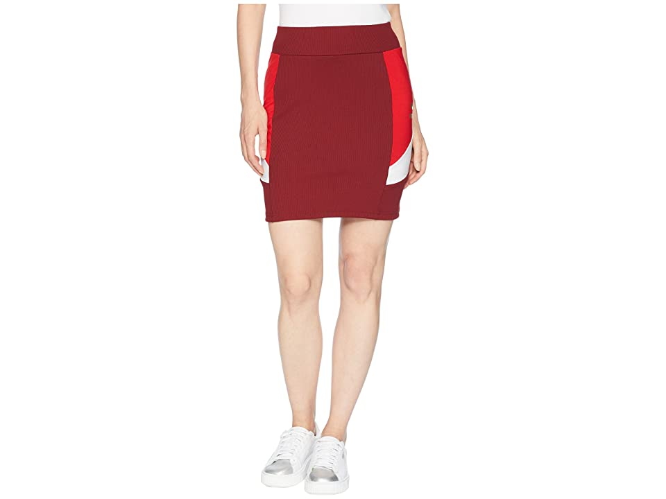PUMA Retro Tight Skirt (Pomegranate) Women