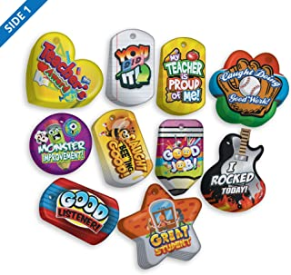 Encourage & Recognize Positive Student Behavior Brag Tag Value Pack: 100 Tags (10 Tags for Each Shape)