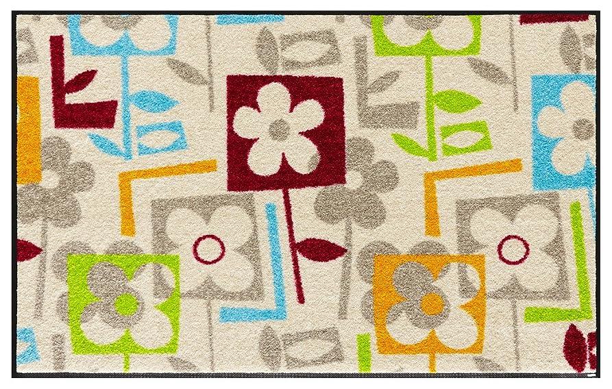 非行絶対に映画wash+dry(ウォッシュアンドドライ)マット Floral Interior Flourish 75×120cm E015B