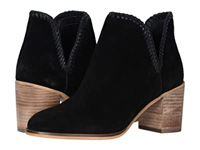 FRYE AND CO. Phoebe Braid Bootie (Black Suede/Waxed Leather) Women