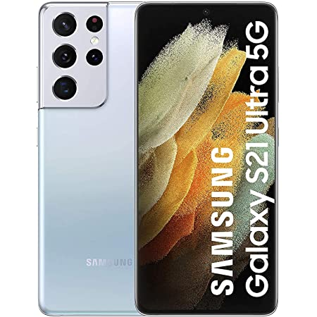 Samsung S21 Ultra 5G with Snapdragon 888 (Phantom Silver, 12GB RAM, 256GB Storage)