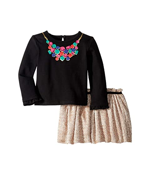 Kate Spade New York Kids Metallic Knit Skirt Set (Infant)