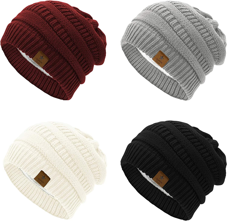 Zando Beanie Hat Gorgeous for Women Winter - Fleece Li Our shop most popular Knit Chunky
