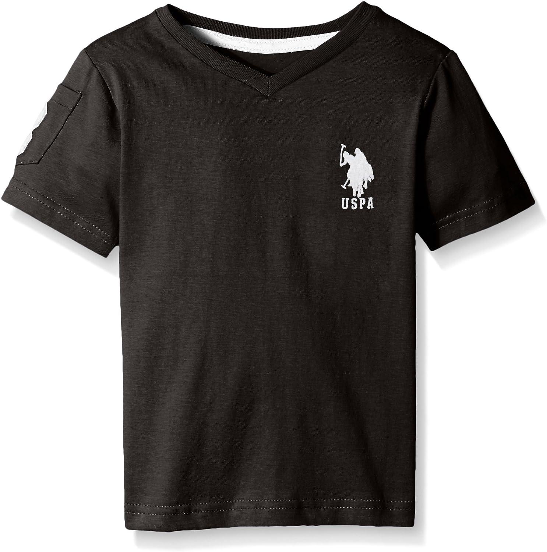 U.S. Polo Assn. Boys' Solid V-Neck T-Shirt