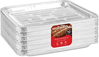 Stock Your Home Disposable Aluminum Foil Broiler Pans (10 Pack) - Broiler Drip Pans for Oven - Durable Broiling Pans with ...