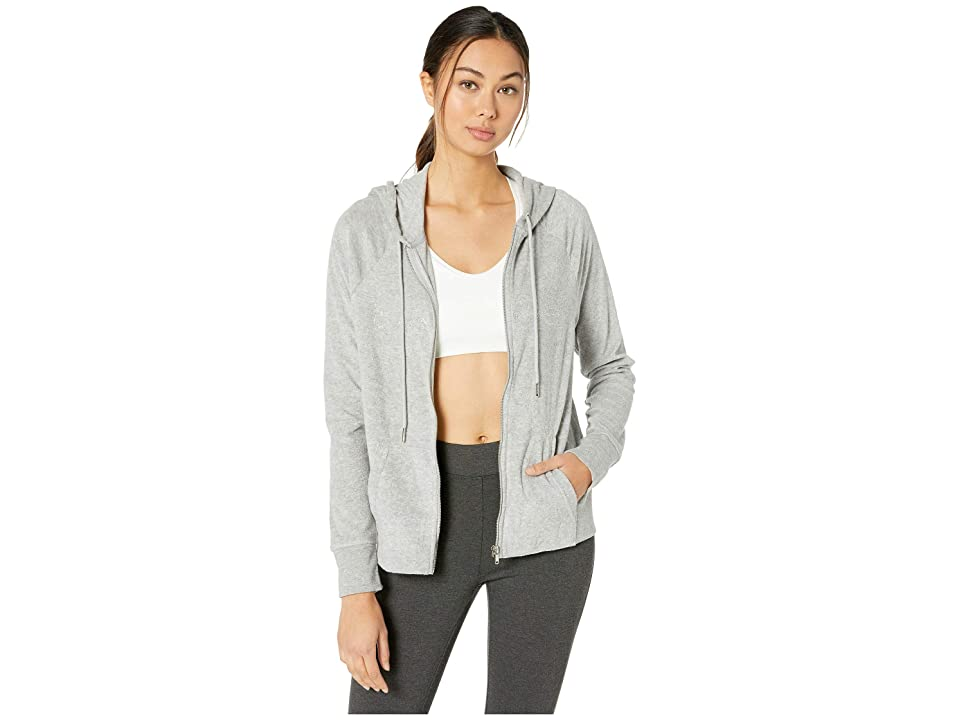 Bebe Sport Beach Terry Zip Hoodie (Heather Grey) Women