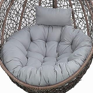 Egg stoel kussen, hangstoel, kussen, schommelstoel, kussen, voor buiten, rond, hangende schommelstoel, stoelkussen, vervan...
