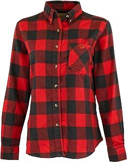 Petite Womens Flannel Shirt, Buffalo Plaid Shirts for Women