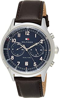 Tommy Hilfiger Mens Quartz Watch, Analog Display and Leather Strap 1791385