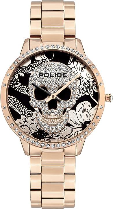 Orologio donna police parure di gioielli donna acciaio_inossidabile - pl16067msr.02m