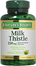 Nature's Bounty Milk Thistle 250 mg Capsules 200 ea (Pack of 3)