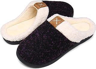 Mishansha Pantofole Donna Uomo Memory Foam in Caldo Cotone Antiscivolo Scarpe da Casa
