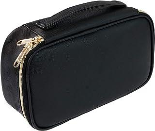کیف لوازم آرایشی کوچک ، کیف لوازم آرایشی مسافرتی قابل حمل برای زنان و دختران لوازم آرایش برس برس کیف کیف - سیاه