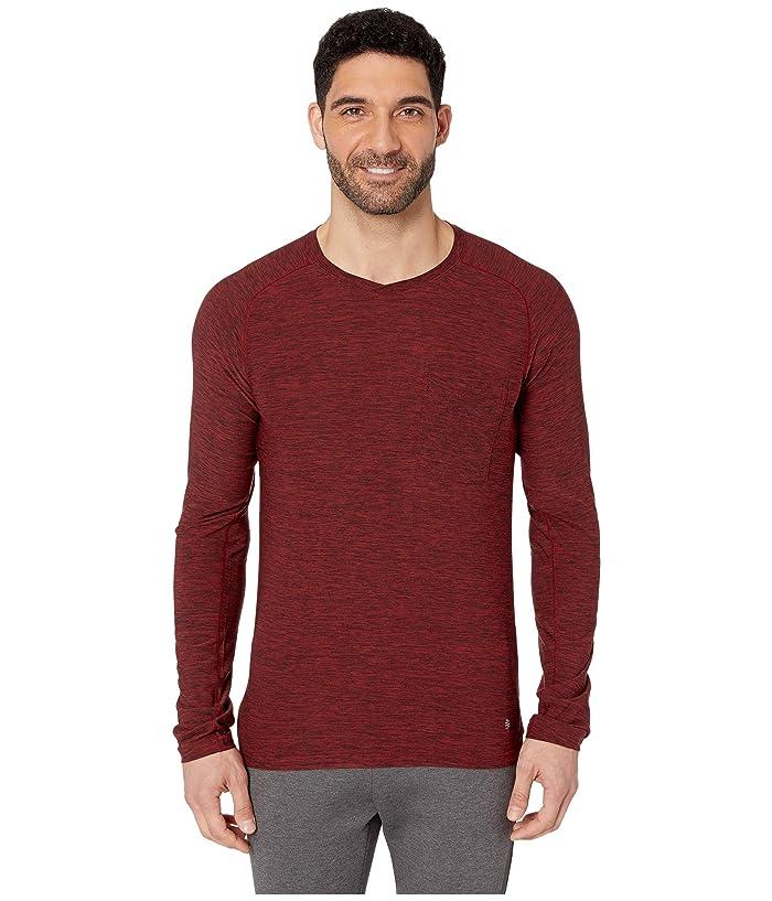 Royal Robbins Bug Barriertm Tech Travel Long Sleeve Shirt (Dahlia Red Heather) Men