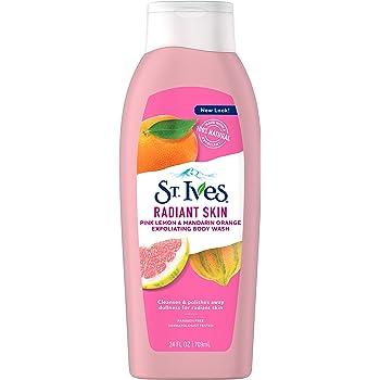 St. Ives Even & Bright Body Wash, Pink Lemon and Mandarin Orange, 24 Fl Oz (Pack of 1)