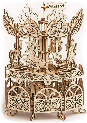 Xuelizhou puzzle en bois voiturerousel mécanique modèles