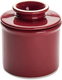 American Mug Pottery Butter Keeper/Butter Dish, Made in USA, Red