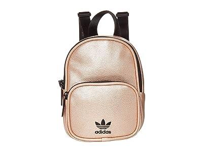 adidas Originals Originals Mini PU Leather Backpack (Rose Gold/Black) Backpack Bags