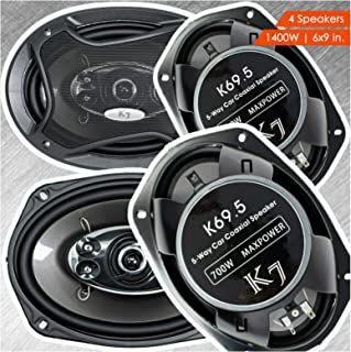 "$62 » Sponsored Ad - 4X Audiotek K69.5 K7 6"" x 9-Inches 5-Way 1400 Watts Peak Power Handling Coaxial Car Audio Speakers CEA Rate..."