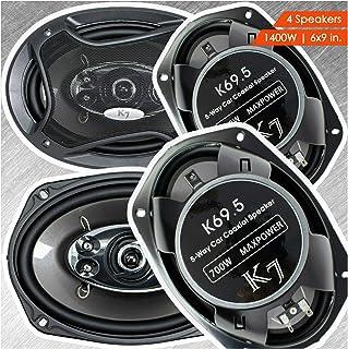 4 Audiotek 6 x 9 Inch Car Audio Speakers - 1400Watts of Power For 2 Pair, 700 Watts Each , Full Range, 5-Way, Sold in 2 Pa... photo