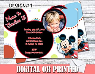 Mickey Mouse Personalized Birthday Invitations More Designs Inside!