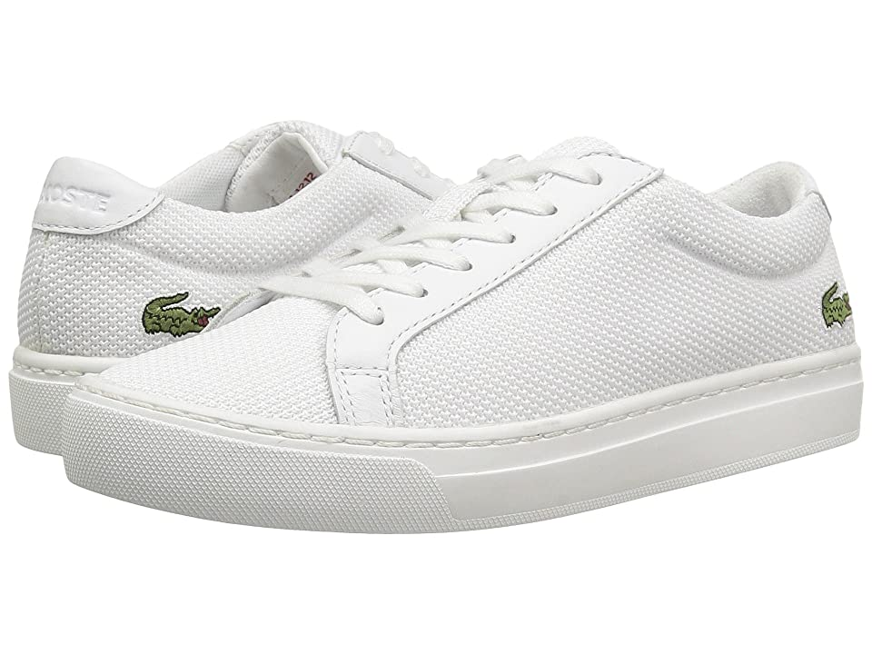 Lacoste Kids L.12.12 (Little Kid/Big Kid) (White) Kids Shoes