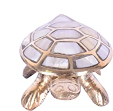 Ryme Vastu Feng Shui Wish Full Filling Brass Tortoise with Secret Wish Compartment