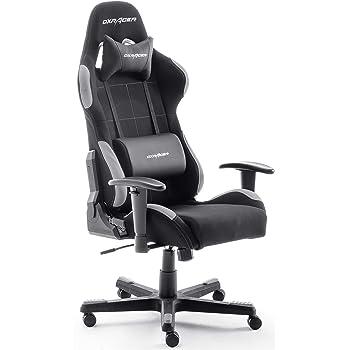 Robas Lund OH/FD01/NG DX Racer 5 Chaise Gaming/Bureau/Fauteuil, avec mécanisme basculant Chaise Gaming Chaise tournable Chaise PC,  Fauteuil ergonomique, noir-gris