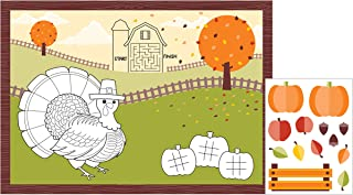 turkey placemats to color
