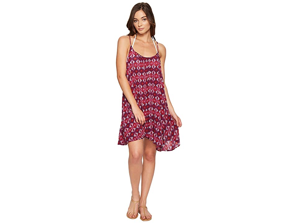 Roxy Windy Fly Away Print Dress Cover-Up (Grape Wine Gerona Nights) Women