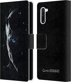 Official HBO Game of Thrones Night King Season 7 Key Art Leather Book Wallet Case Cover Compatible for Samsung Galaxy Note10 / 5G