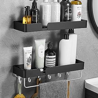 VOLPONE Shower Caddy Shelf Organizer with Towel Bar Hooks Wide Space Shower Storage Rack Rust Proof Multifunctional Bathro...