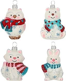 Keepsake Mini Christmas 2019 Year Dated Arctic Friends Animals Miniature Blown Glass Ornament, Set of 4