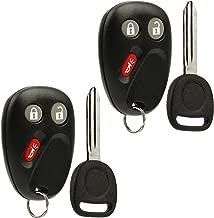 Car Key Fob Keyless Entry Remote with Ignition Key fits Chevy Trailblazer / Buick Rainier / GMC Envoy / Isuzu Ascender / Oldsmobile Bravada / Saab 9-7x (15008008), Set of 2