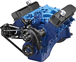 Black Serpentine Conversion Kit for Ford FE 390 427 428 Engines; Alternator Only Applications