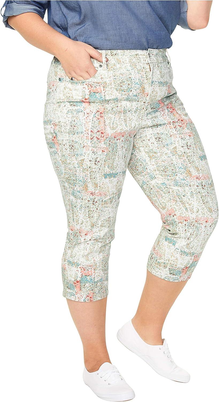 NYDJ Women's Plus Size Marilyn Straight Crop Jeans