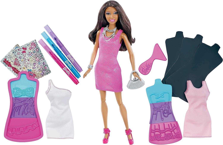 Barbie Fashion Design Plates African American Doll X7893