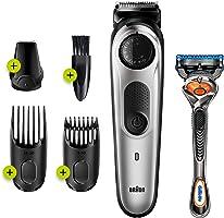 Braun Beard Trimmer for Men BT5260, Cordless & Rechargeable Hair Clipper, Detail Trimmer with Gillette ProGlide Razor,...