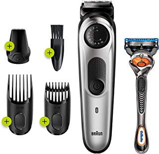Braun Beard Trimmer BT5260, Trimmer and Hair Clipper for men, 39 Length Settings, Black/Silver Metal