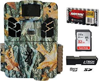 Browning Dark OPS HD APEX (2019) Trail Game Camera Bundle Includes 32GB Memory Card, 8 AA Batteries and J-TECH Card Reader (18MP) | BTC6HDAPX