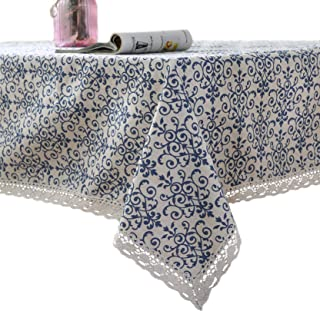 Sponsored Ad - famibay Vintage Square Tablecloth,Everyday Kitchen Table Cloth Indoor Outdoor Decorative Macrame Lace Table...
