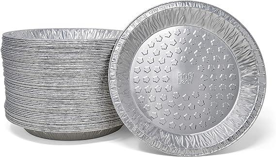 Fig & Leaf (60 Pack) Premium 9-Inch Pie Pans l 36 Gauge l Disposable Tart Pan Tin Plates Aluminum Foil for Baking Quiche
