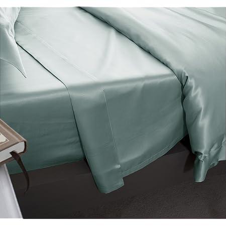 in weiteren Gr/ö/ßen verf/ügbar Enteei - Single 180cm x 275cm Haustuch aus 100/% Maulbeere 19MM Charmeuse Seide Jasmine Silk hochwertiges Betttuch//Bettlaken Laken ohne Gummizug